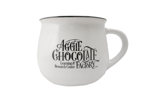 Aggie Chocolate Factory Mug - White