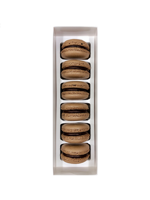 6-Count Aggie Chocolate Macarons