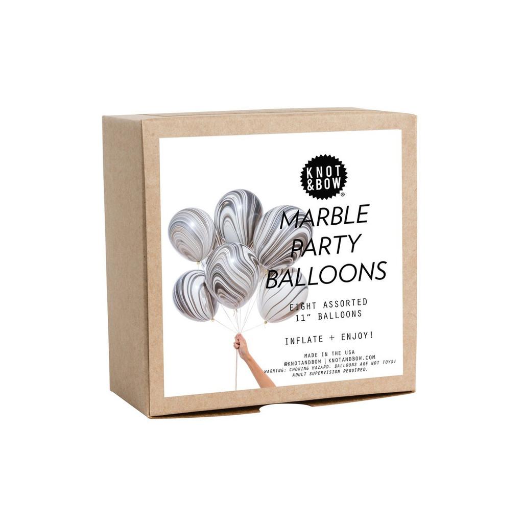 Marble Party Balloons, Black + White