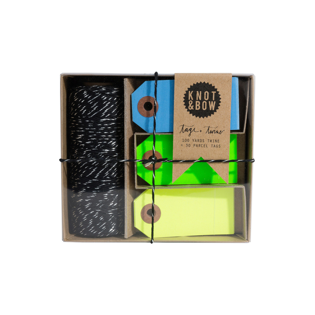 Tag + Twine Box, Cool Neon