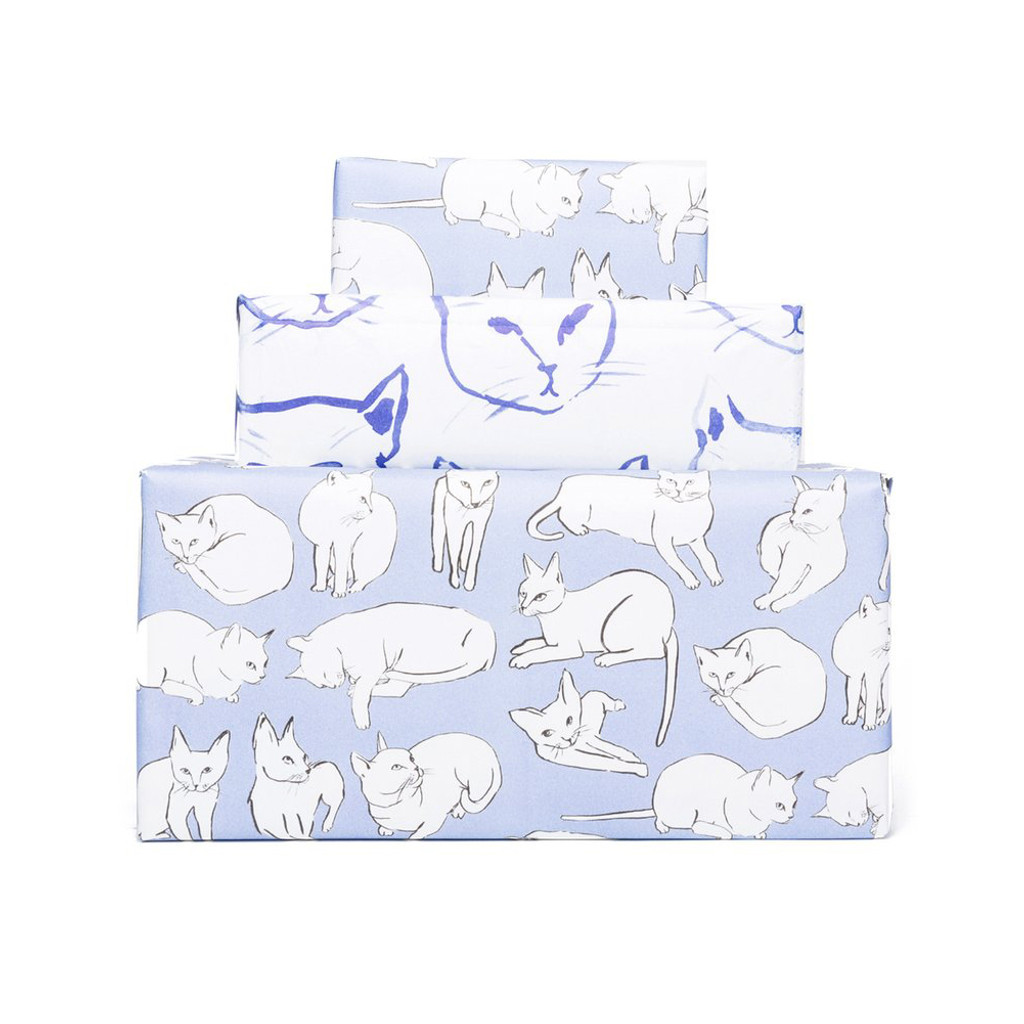 Gift Wrap, Violet Cats