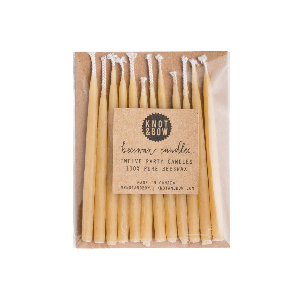 Beeswax Party Candles, Natural
