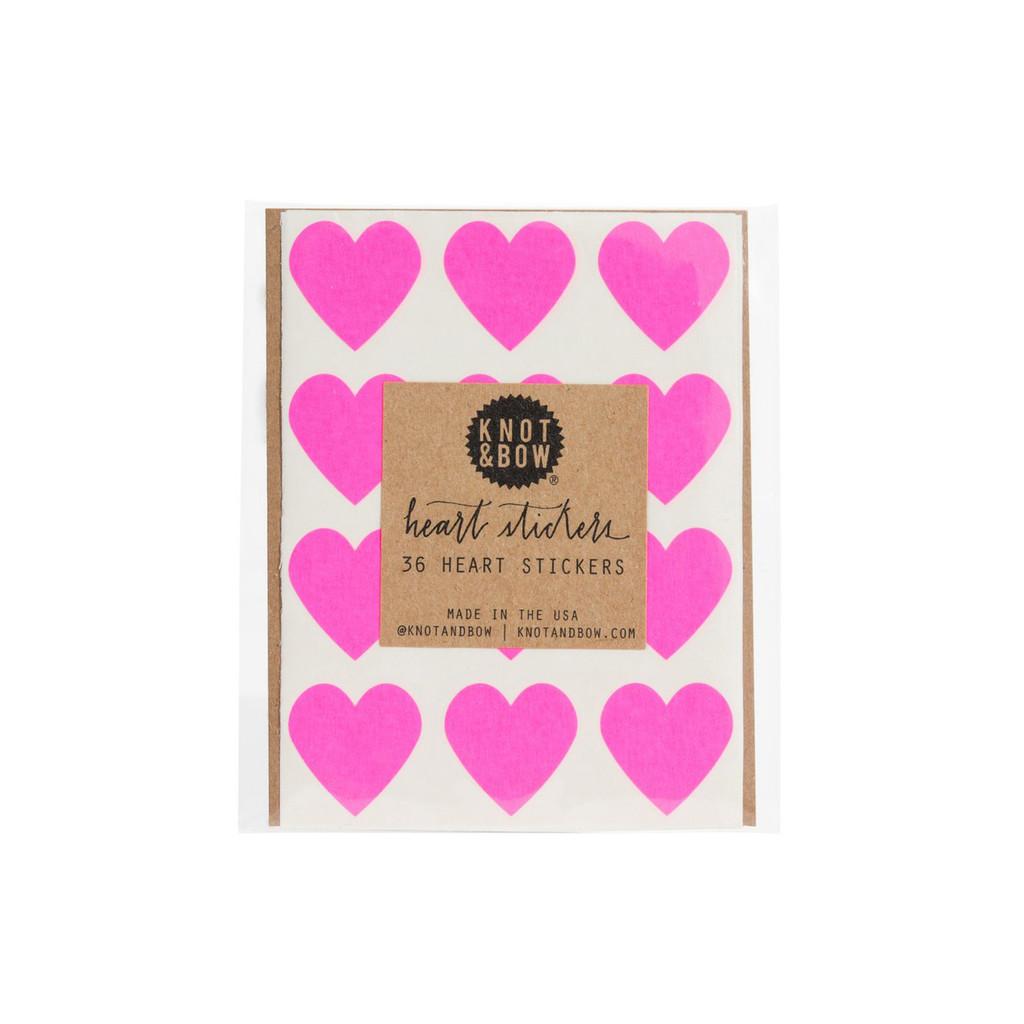 Heart Stickers, Neon Pink