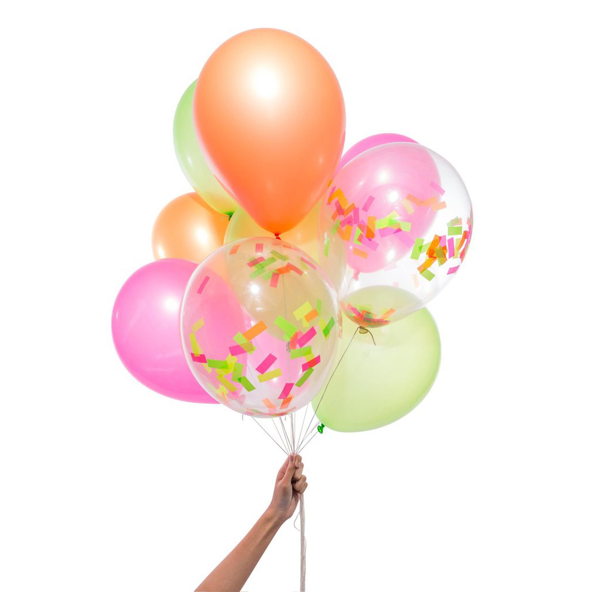 Neon Party Balloons