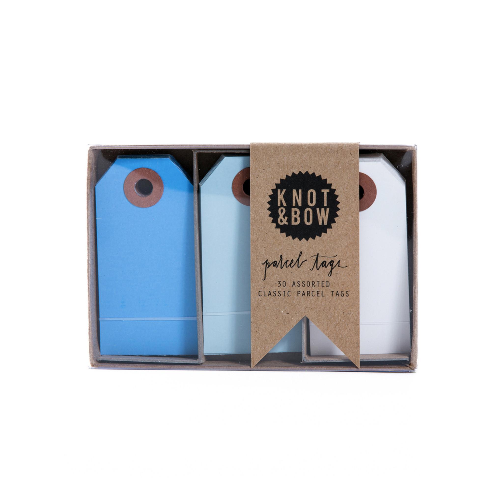 Parcel Tag Trio Box, Blue Mix