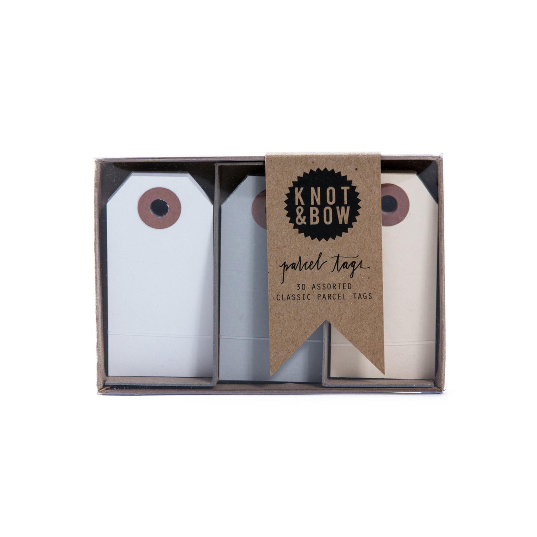 Parcel Tag Trio Box, Neutral Mix