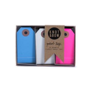 Parcel Tag Trio Box, Blue + Pink Mix