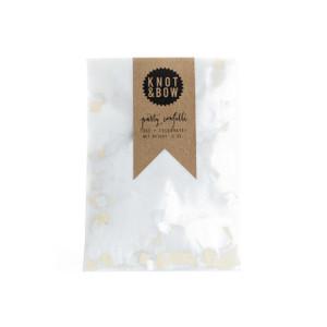 Party Confetti Bag, White Metallic