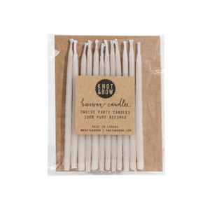 Beeswax Party Candles, Ivory