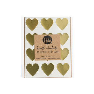 Heart Stickers, Gold