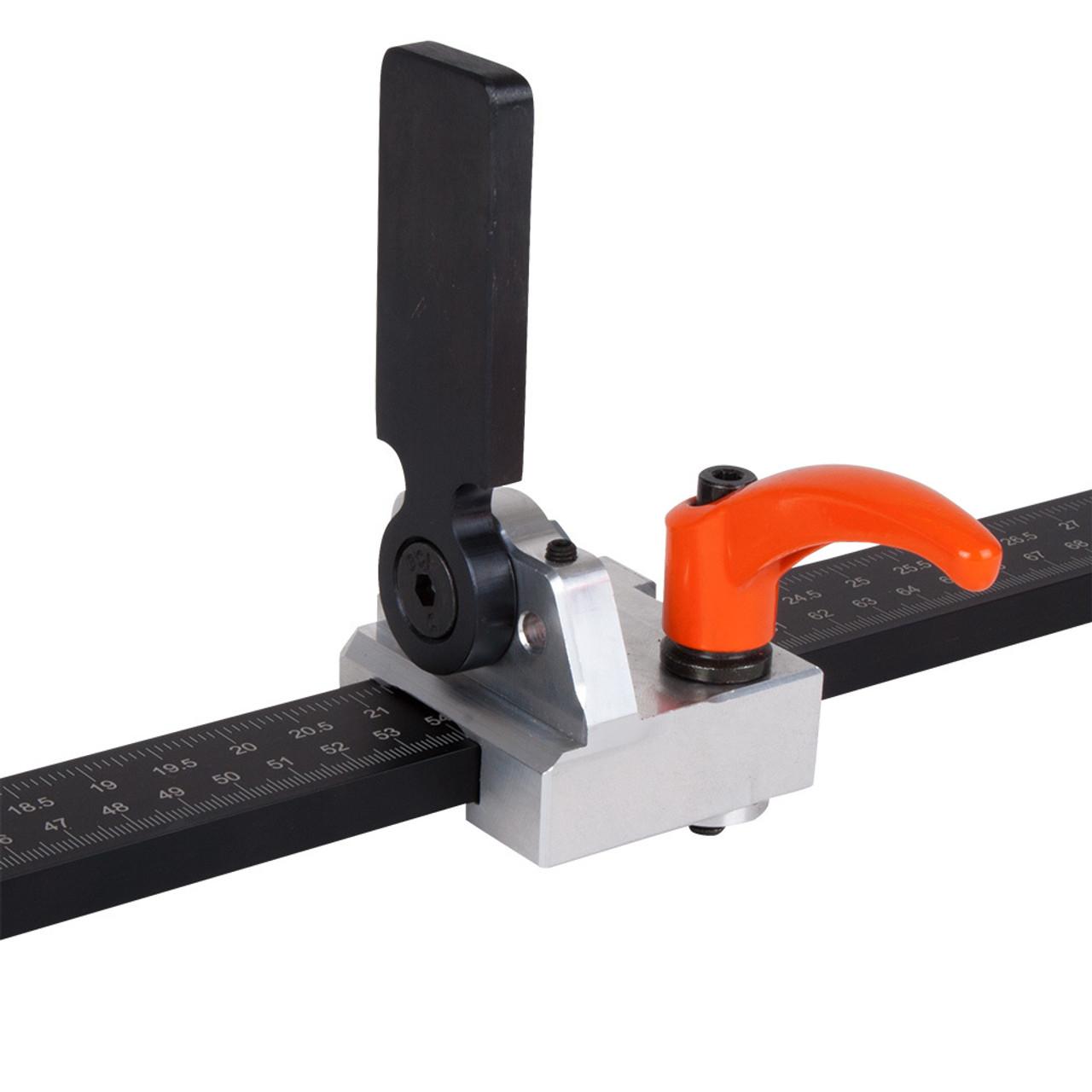 Multi-profile DIN rail cutter with high rise aluminum.