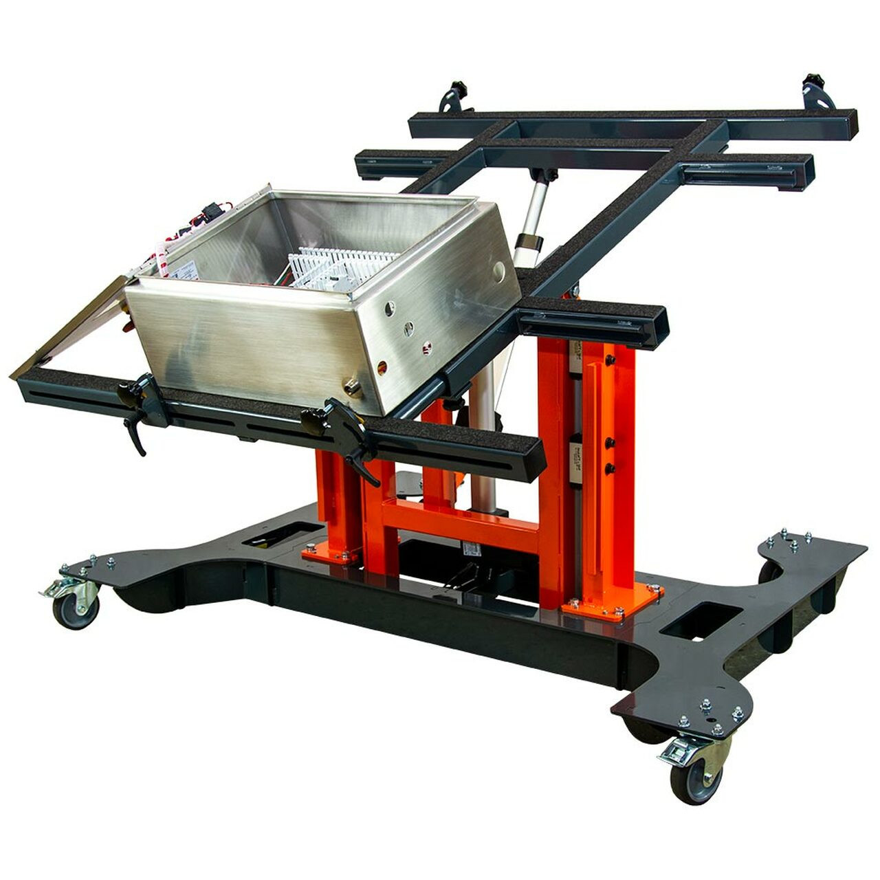 Multi-position panel assembly table with electric tilting and height adjustment-with panel.