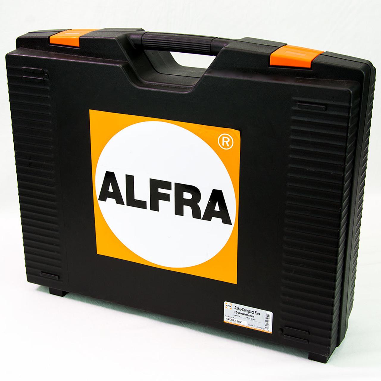 "Alfra AKKU-Compact Flex Battery Operated Punching Tool Kit w/1/2"" - 2"" Conduit punch/die sets (set of 6)"