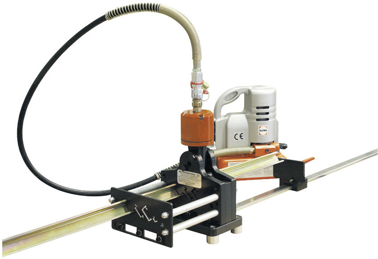 """Alfra PSG 5+ Multi-Profile DIN Rail Cutter with """"G"""" rail and hydraulic cylinder"""