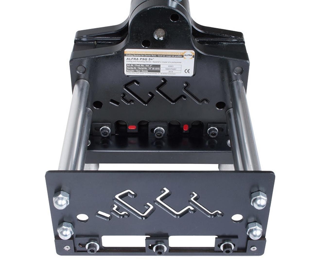 "Alfra PSG 5+ Multi-Profile DIN Rail Cutter with ""C"" rail profile."