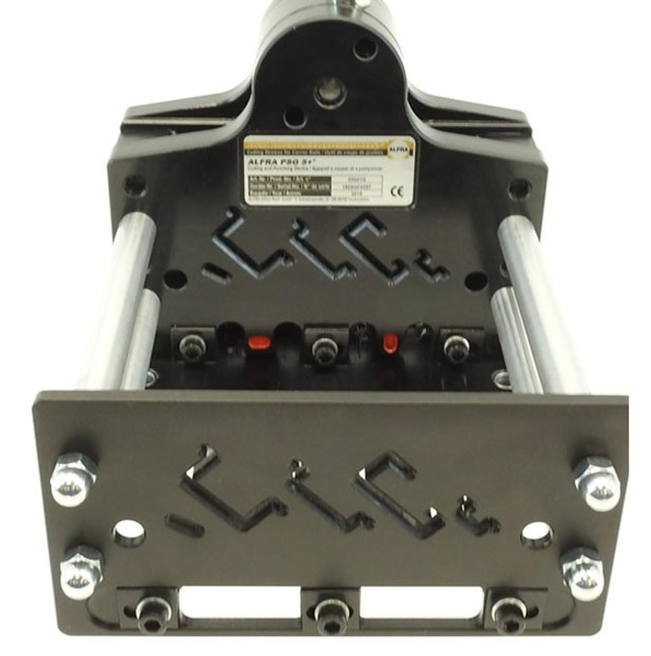 "Alfra PSG 5+ Multi-Profile DIN Rail Cutter with ""G"" rail profile."