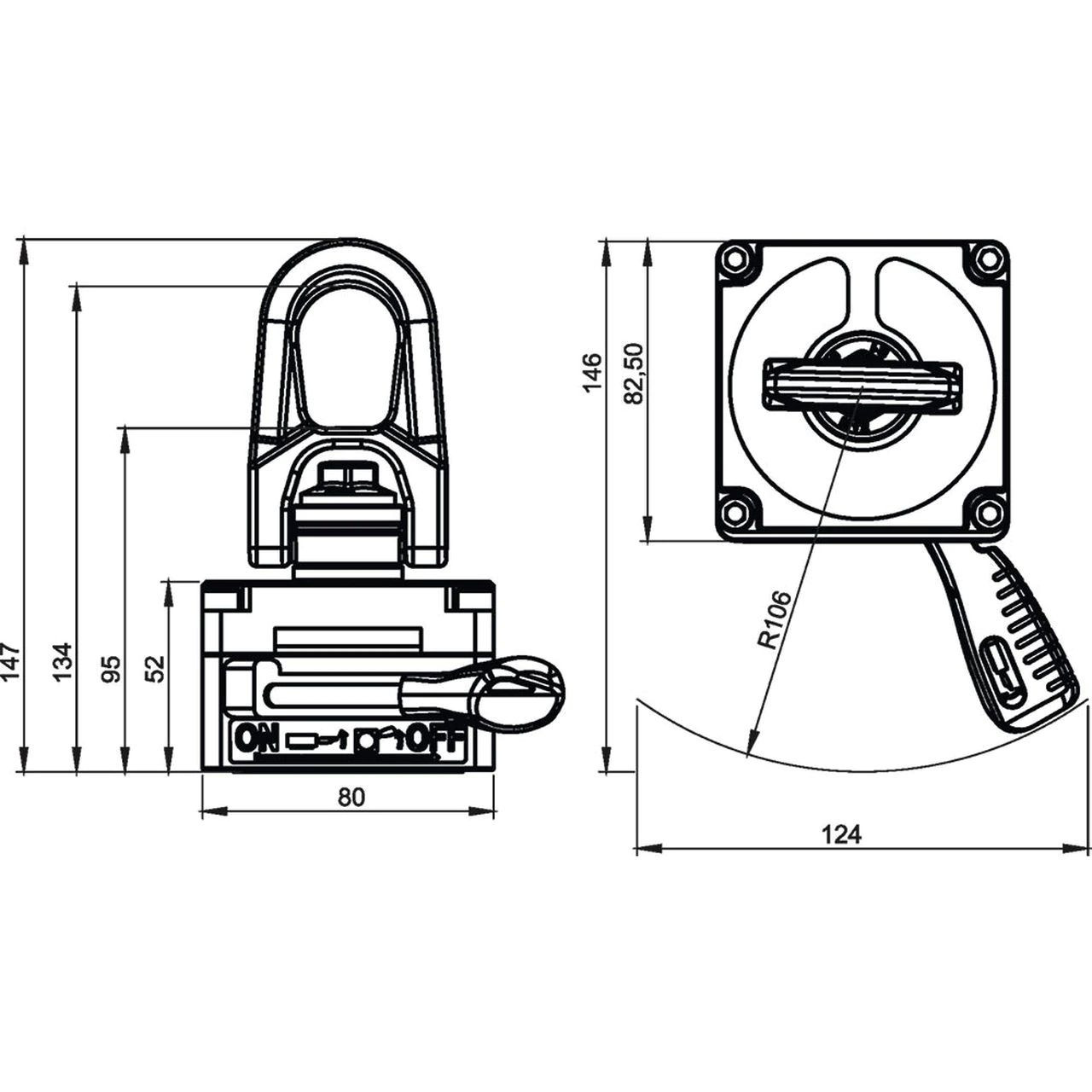 Alfra TML-220 Lifting Magnet Dimensions