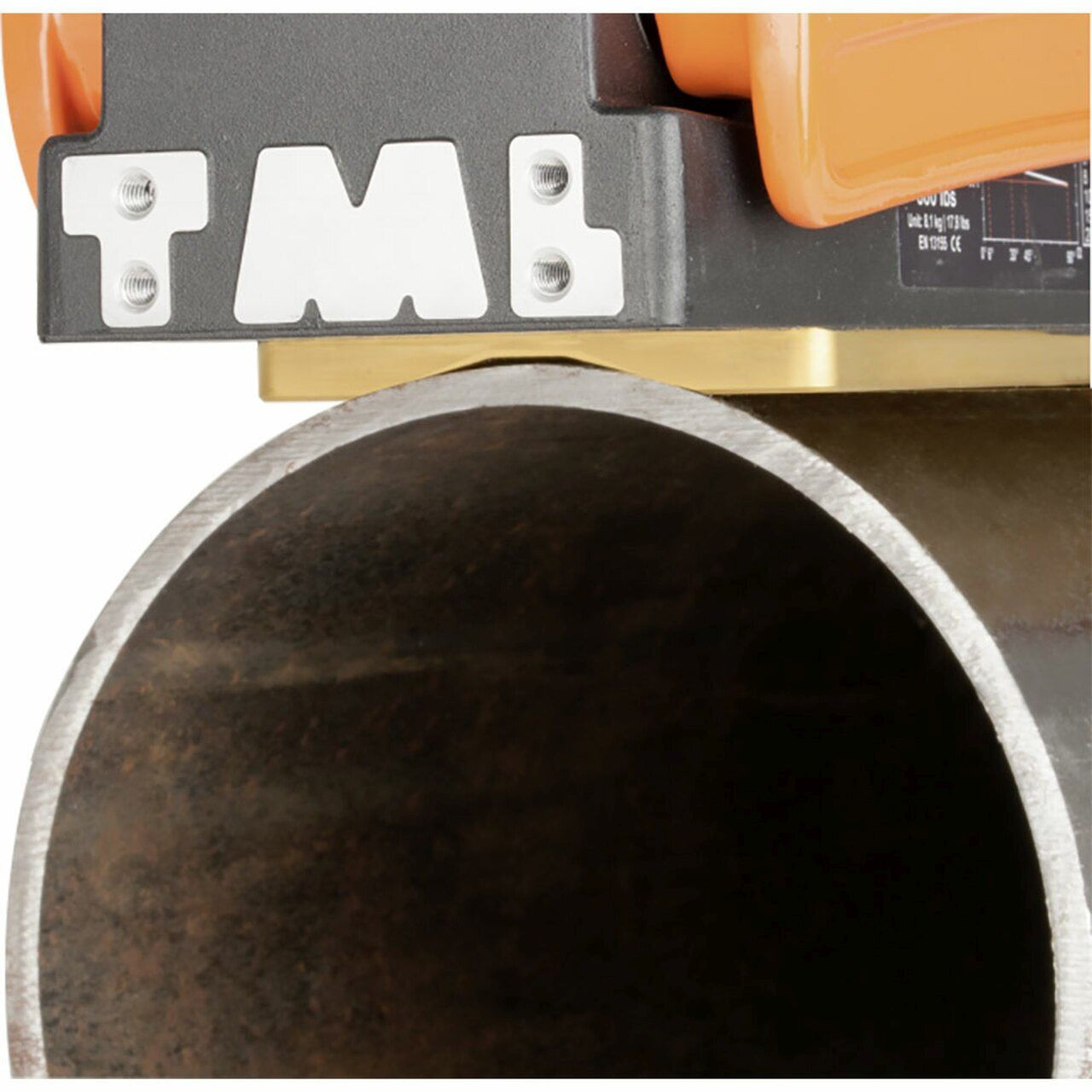 Alfra TML-400-R Pipe Lifting Magnet on a pipe