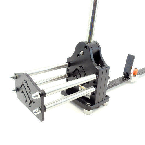 Multi-profile DIN rail cutter with high rise aluminum.