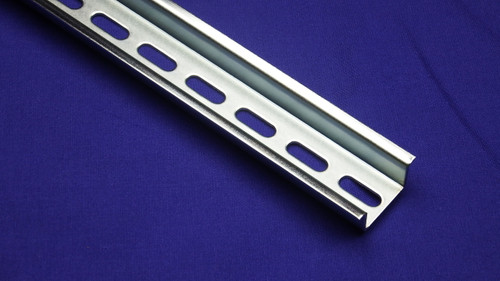 RoHS Compliant Pre-cut High Profile Steel Slotted DIN Rail