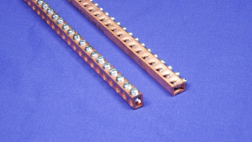 UL Listed  (file number 354992) copper grounding bar