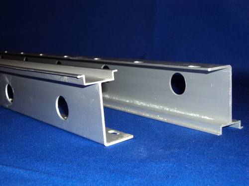 1 meter High Rise Heavy Weight Extruded Aluminum DIN Rail with Slots