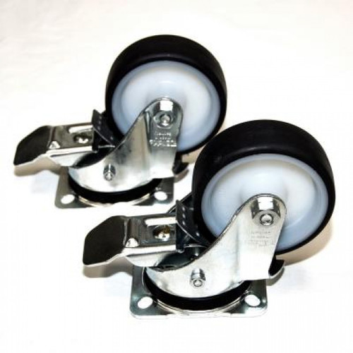 Set of (2) Locking Casters for Multi-Angle Tilting Control Panel Mounting & Assembly Table