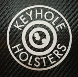 "3"" Round Keyhole Holsters Decal"