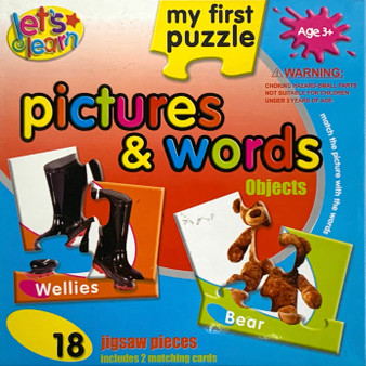 Pictures & Words Objects Matching Puzzle