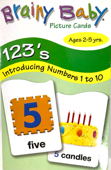 Brainy Baby Picture Number Cards