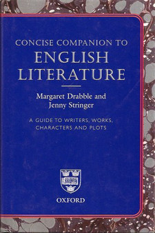 Concise Companion To English Literature - Margaret Drabble and Jenny Stringer (Hardcover)
