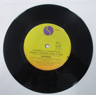 45 RPM  Causing A Commotion - Madonna