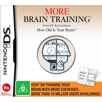 Nintendo DS - More Brain Training from Dr Kawashima