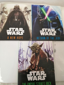 Star Wars - Set of 3  Trilogy- A New Hope, Return of the Jedi, The Empire Strikes back