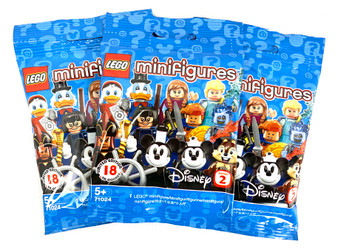 LEGO - minifigures Disney Series 2 Collectable Toys Pack of Three