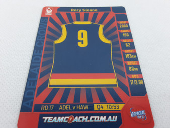 2015 AFL Teamcoach Footy Flix Card - Rory Sloane, FF-01