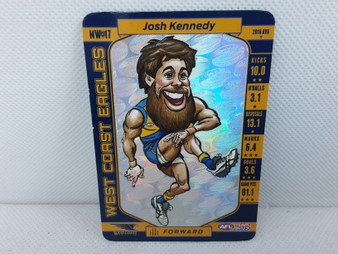 AFL Teamcoach 2017 Player Trading Card - Josh Kennedy , MW-17