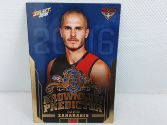 AFL Brownlow Predictor Card 2016 - David Zaharakis, BP40