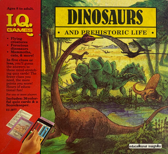 Vintage Dinosaurs and Prehistoric Life I.Q. Card Game