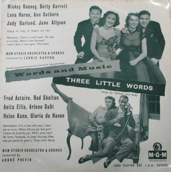 Words and Music/Three Little Words - Mickey Rooney and others