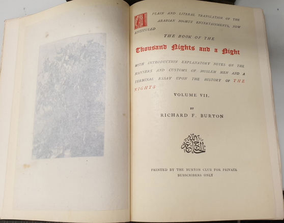 The Book of the Thousand Nights & a Night by Richard Burton
