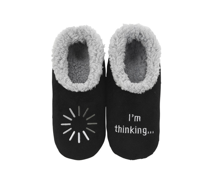 """I'm Thinking"" Men's Snoozies® Pairables Slippers"
