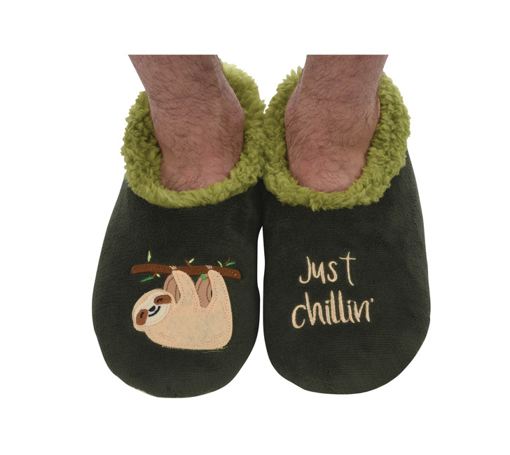 """Sloth """"Just Chillin'"""" Men's Snoozies® Pairables Slippers"""