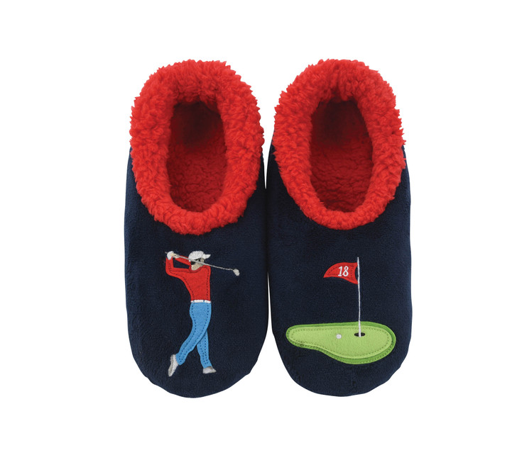 Golf Theme Men's Snoozies!® Pairables Slippers