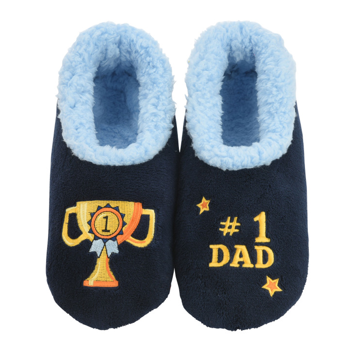 """""""#1 Dad"""" Men's Snoozies!® Pairables Slippers"""