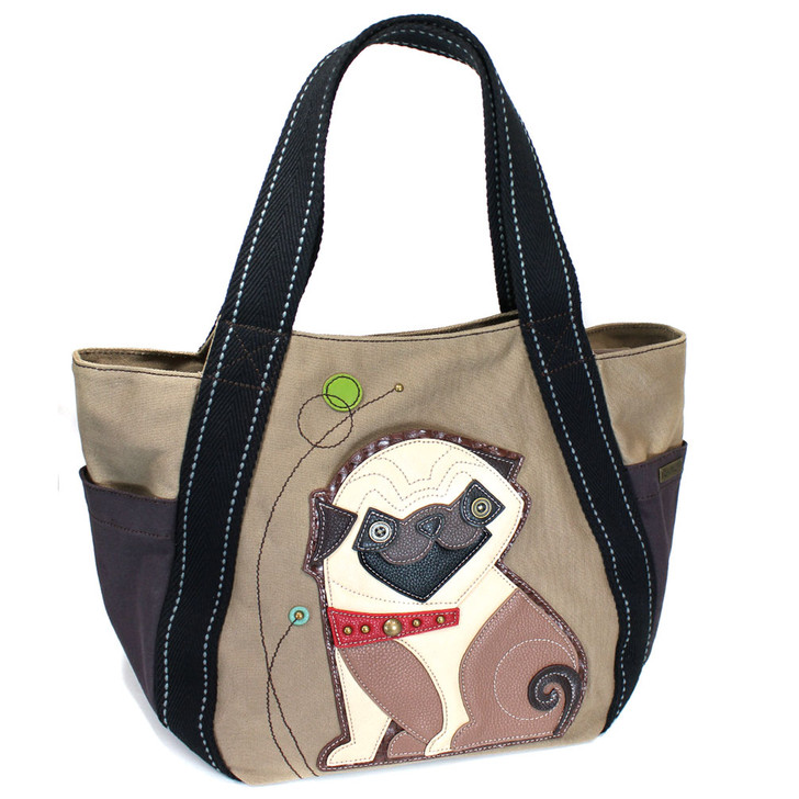 Chala Carry All  Zip Tote  - Pug