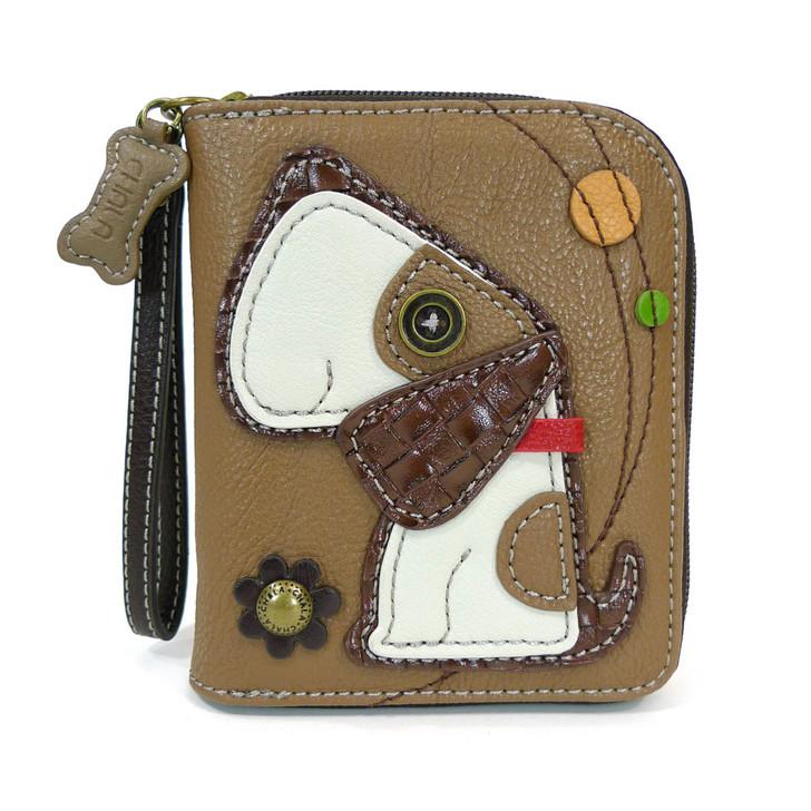 Chala Zip Around Wallet -Dog, Brown