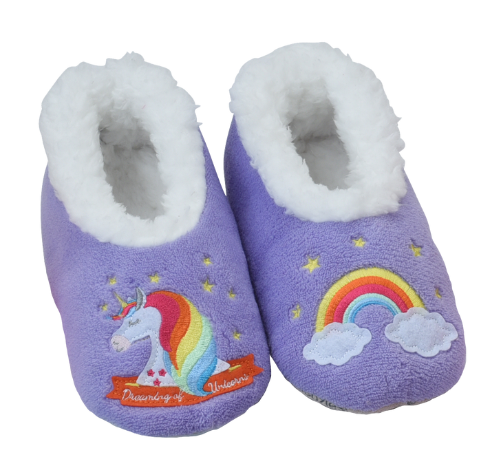 Toddler Fairytales Snoozies!® Slippers- Unicorn, Purple
