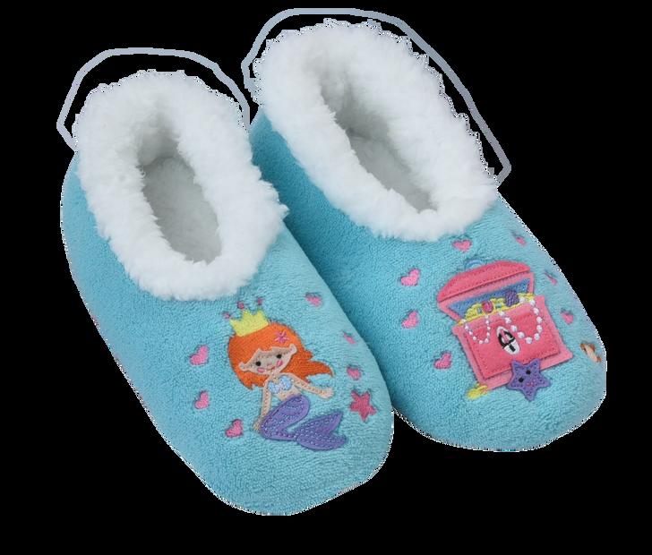 Toddler Fairytales Snoozies!® Slippers- Mermaid, Aqua