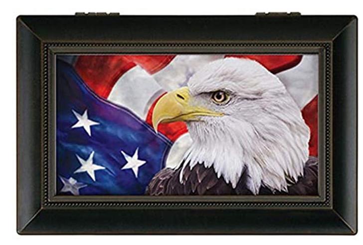 """Small Music Box - """"Patriotic Eagle"""""""